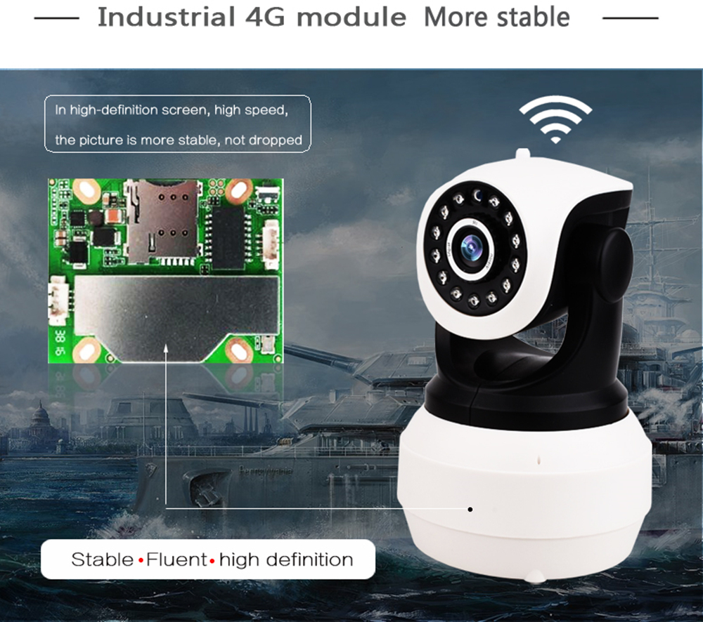 2MP Rechargeable 3g 4g sim card ip cameras P2P two way audio IR vision battery power wifi PTZ cameras SD Card storage IP camera