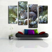 Lovely rabbit canvas painting hot selling animal prints artwork on bedroom wall