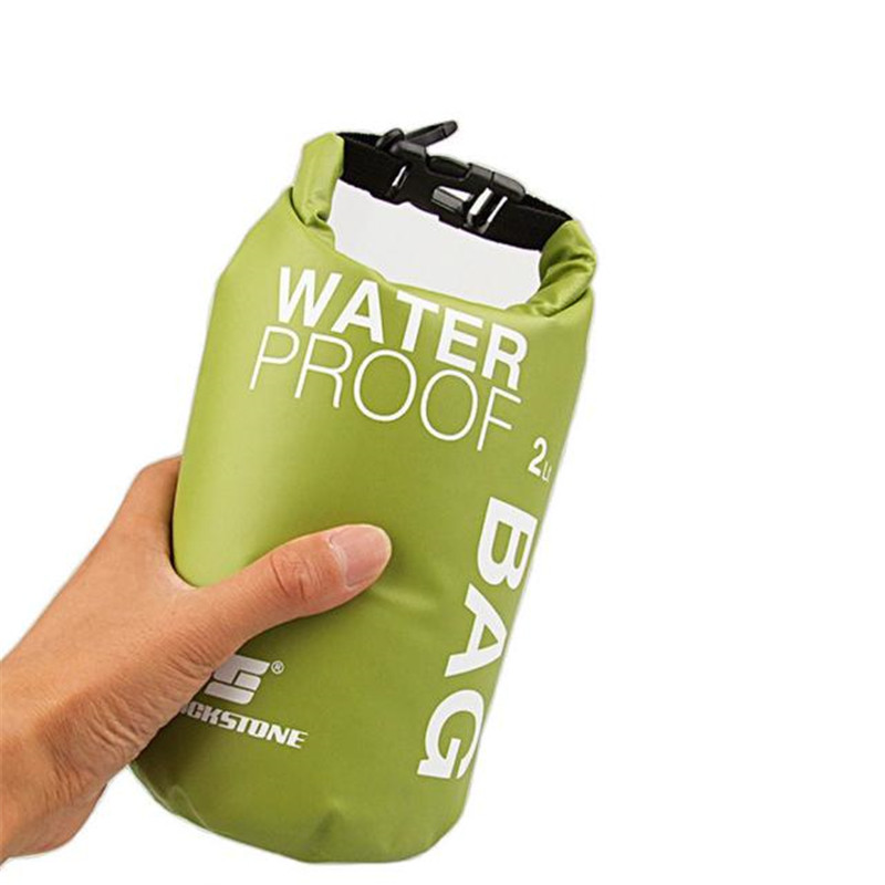 Portable 2L Waterproof Bag Storage Dry Bag for Canoe Mobile phone camera Outdoor Bicycle Cycling Rafting Bike Accessories M10