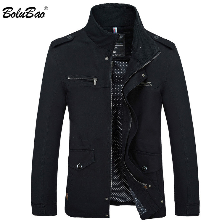 Bolubao 2018 Males Jacket Coat Lengthy Part Style Trench Coat New Autumn Model Informal Silm Match Overcoat Jacket Male
