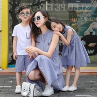 715A 2017 summer children family and mother dress Taobao explosion 1