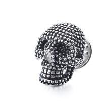HAWSON Skull Brooch Pin Clutch Back Locking Skeleton Head Lapel Pins Jewelry