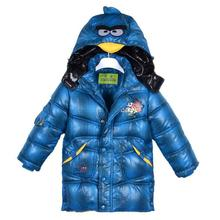 Winter Children Hooded Boys Girls 2016 New Fashion Angry Bird Coat&jacket Infantis Padded Down Jacket Thick Kids Infant Clothes