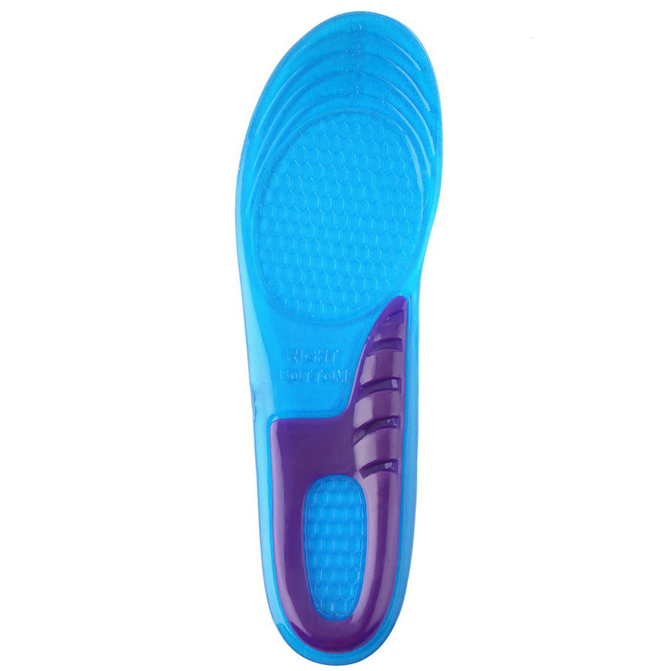 1 Pair Small Size Orthotic Arch Support Massaging Silicone Anti-Slip Gel Soft Sport Shoe Insole Pad For Man Women Hot Sale