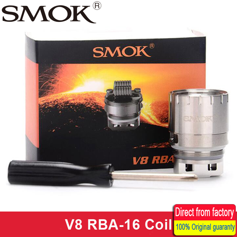 Original Smok TFV8 V8 RBA-16 RBA 16 coil head Octuple Core 0.16ohm Rebuildable Coil Head Huge Deck & Airflow for TFV8 Atomizer