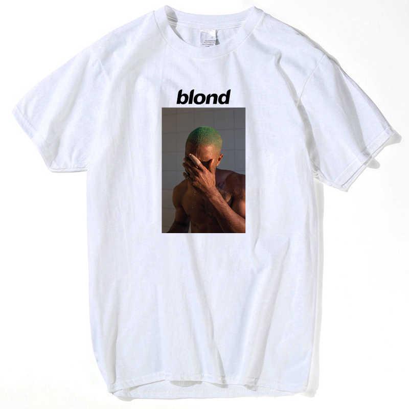 8bfcfe77f ... Voltreffer Frank Ocean Blonde T Shirt Men Letter Print Tee Shirt Male  White Graphic Top Tees ...