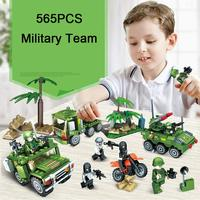 Classic WW2 Military Team Tank Vehicle Model DIY Building Block Military Mini Army Soldier Figures Bricks