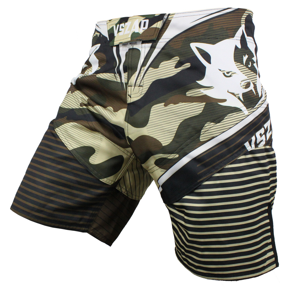 VSZAP CAMO men mma shorts muay thai shorts Wear resistant fabrics Camouflage printing Double stretch fabric