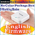 EnglishFirmware Tenda A6 G6 Mini Router Pocket WiFi Wireless-N AP Router Repeater WISP 150M wireless router No Color Package Box