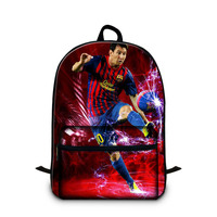 Dispalang Print Celebrity Stars Patterns on Cotton Laptop Backpacks for Students Newfangled Boys Schoolbag for 12 inch i pad