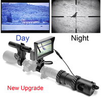 Upgrade Rifle Night Vision Outdoor Hunting Optics Sight Binoculars With LCD And IR Flashlight Not Include