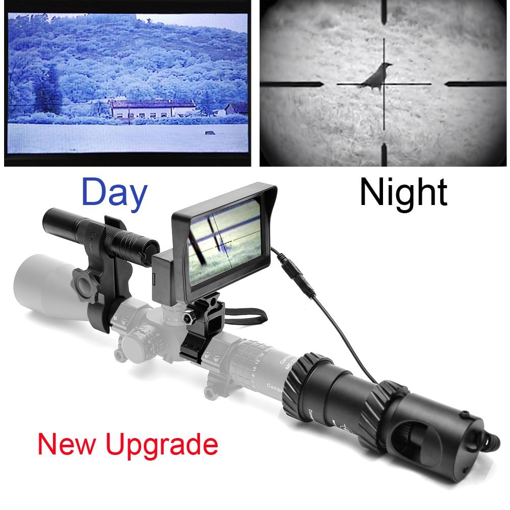 Mise à niveau Fusil Vision Nocturne En Plein Air Chasse Optique Vue Jumelles avec LCD et IR lampe de Poche pas Comprennent Fusil Portée