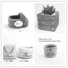 Creative Desktop Decoration Craft Cement Pot Pen Holder Mold for Concrete 3D Book Box Car Bag Planter flowerpot Silicone Molds