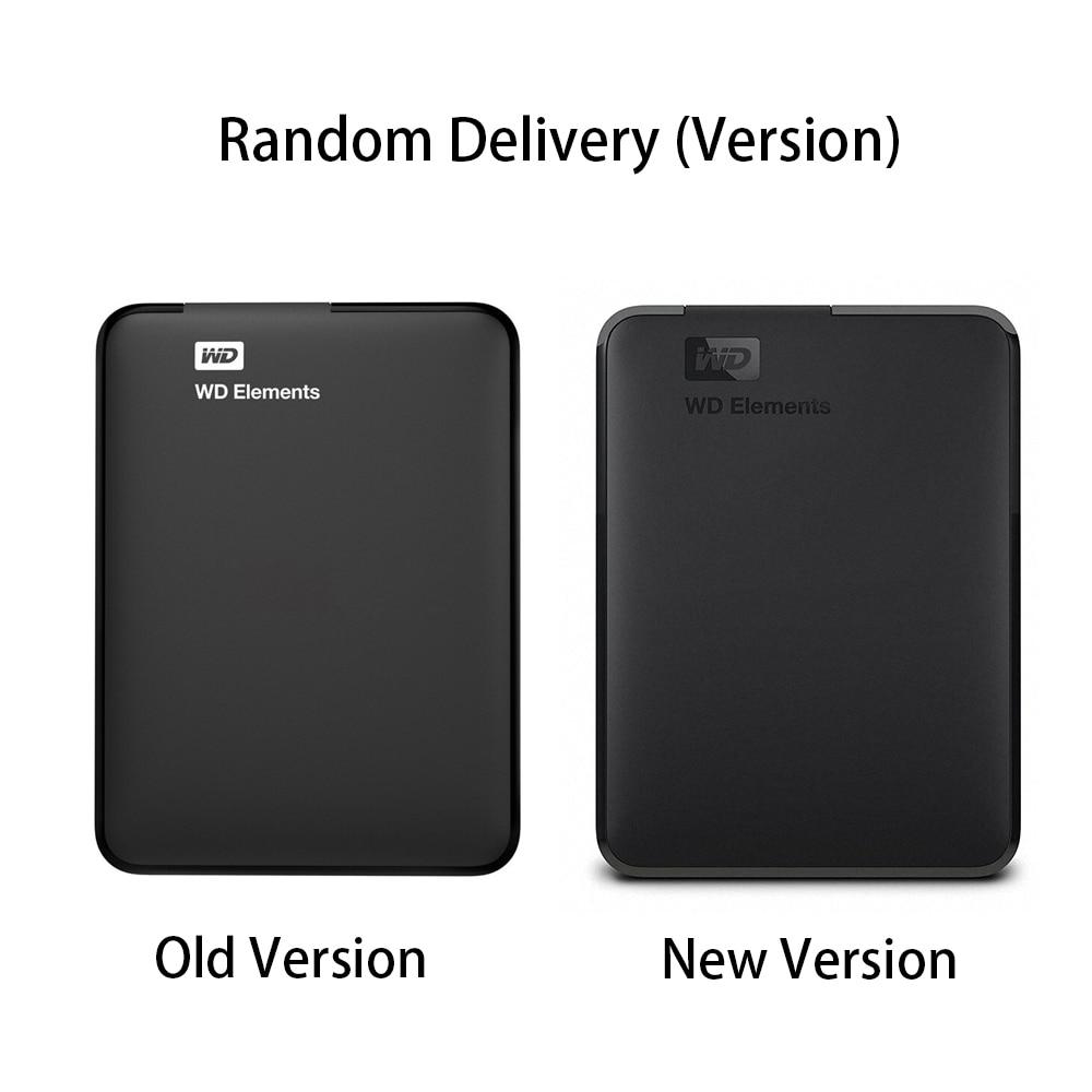 Western Digital WD Elements disque dur disque dur externe 500G 1 to 2 to USB 3.0 disque dur Hdd 2.5 pouces disque dur Portable - 4