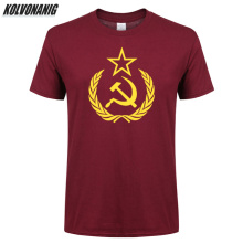Summer 2019 CCCP Russians Mens T-Shirts USSR Soviet Union Moscow Russia Printed T Shirt Men Oversized O Neck Short Sleeve Tees