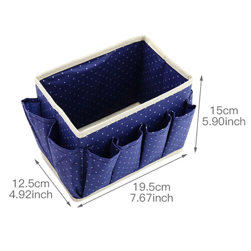 Washable Makeup Organizer with Cute Dots Design and Storage Bins made of Non Woven to Organize Beauty Essentials Neatly in Place 8
