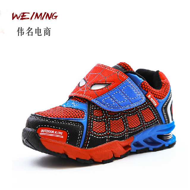 Cheap Child Shoes 2017 New Spring Spiderman Mesh Sports Sneakers For Kids Toddler Shoes Children chaussure enfant fille Breatha