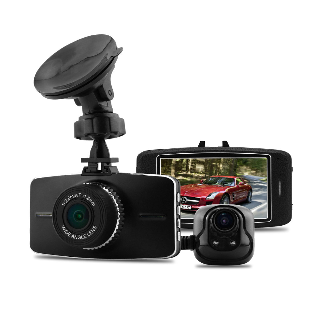 G5WA Dual Lens Car DVR Ambarella A7LA70 Full HD 1080P 30fps H.264 Video Recorder Dash Cam - DCam Electrical Factory store
