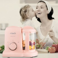 2 in 1 Squeeze Food Station Baby Food Organization Storage Containers Baby Food Maker Set Fruit Puree Steamer Mixer Machine
