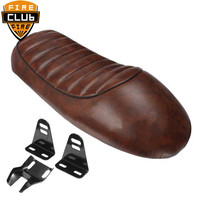 Brown Black Cafe Racer Seat Custom Vintage Hump Saddle Flat pan Retro Seat Motorcycle For Honda CB350 CB450 CB750 CB200