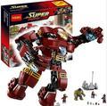 76031 Super Heroes Халк Железный Человек Бастер Smash Decool Строительные Блоки Устанавливает Рисунках Совместим legoINGlys Супергероев Marvel