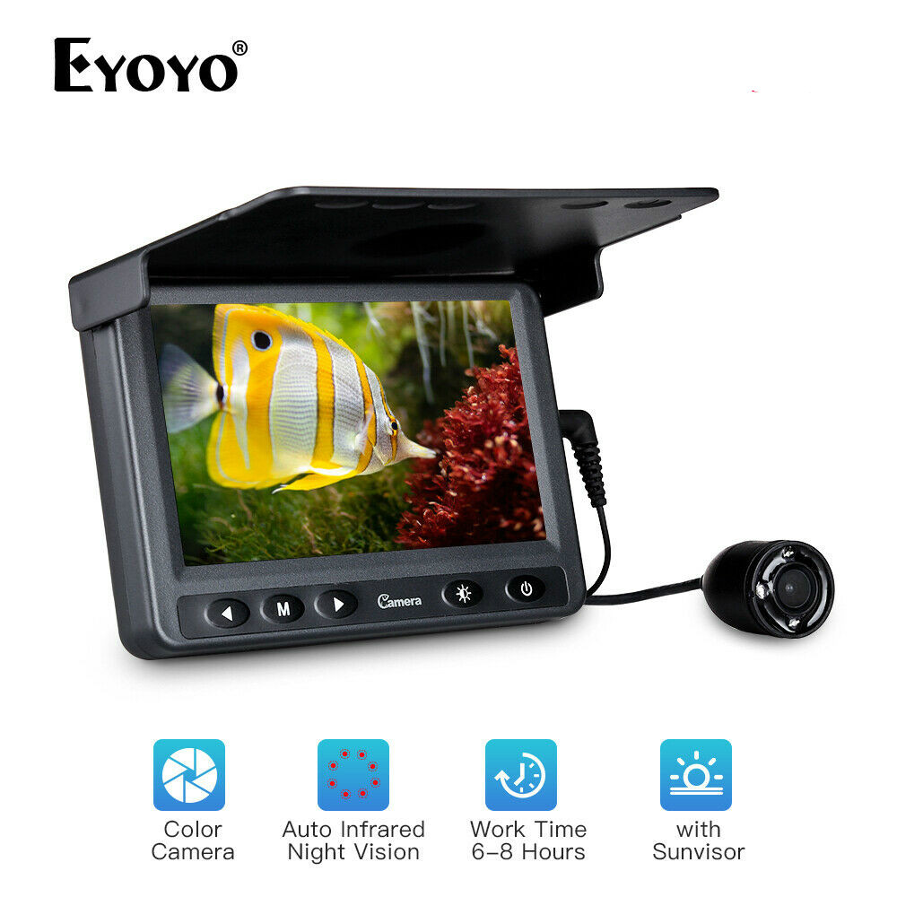 "Eyoyo 4.3"" Inch LCD Monitor 15M Fish Finder Waterproof Underwater Fishing Camera"
