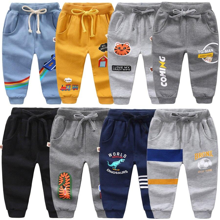 Boys Sport Warm Pants For 2-6 Yeas Solid Boys Girls Casual Sport Pants Jogging Enfant Garcon Kids Children Trousers DS29