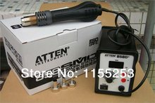 High quality free Shipping  220V  ATTEN AT-858D+ SMD Hot Air Rework Station Solder