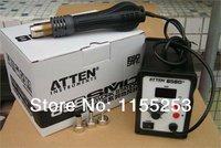 Wysoka jakość darmowa Wysyłka 220 V ATTEN AT-858D + SMD Gorące Powietrze Stacja Lutownicza Lutowane