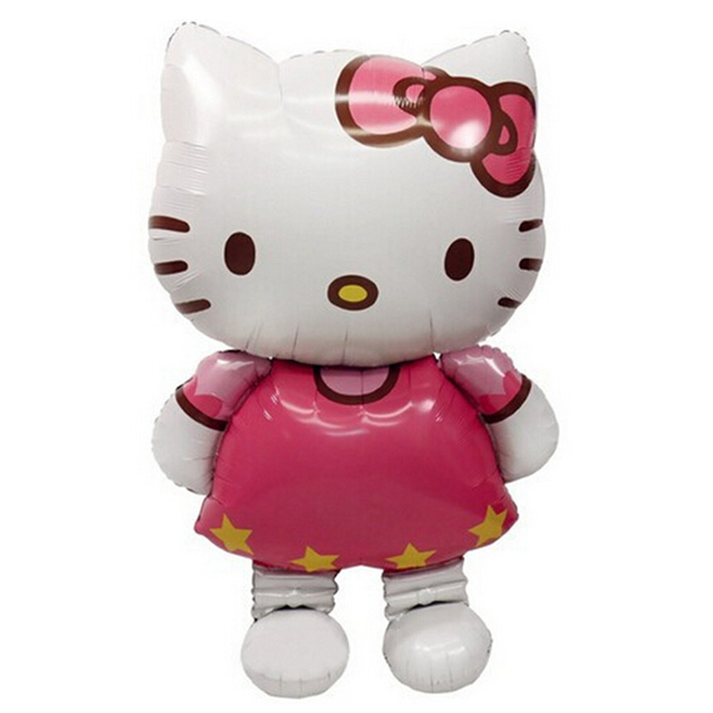 116*68cm L Size Hello Kitty Cat Foil Balloon 80*48cm M Size Cartoon Birthday Party Decoration Inflatable Air Balloon D0443