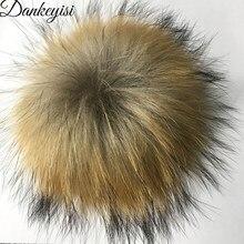 Dankeyisi al por mayor 12 unids Piel auténtica pompoms 13-17 cm DIY Raccoon  Fox Pieles de animales Pompones Pieles de animales b. fc92ef6861ad