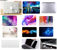 Laptop Case Notebook Tablet Shell Keyboard Skin Cover Bag LCD Screen Film Dust Plugs For 11 12 13 15.4Macbook Pro Air Touch Bar