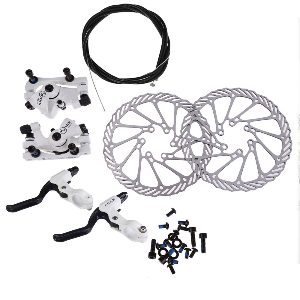 Professional Cycling NWQ-1 Bicycle Disc Brake Set Kit G3 Rotors 160mm Brake Levers Cable Spare parts for bicycles Drop shipping mtb bicycle disc brake set kit rotors 160mm hose bicycle accessories bicycle brake calipers levers g3 hose hot bolts