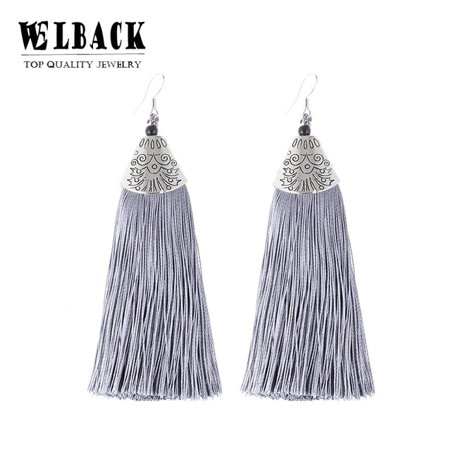 2018 Colorful Drop Tassel Earrings Green Indian Ethnic Danging Earrings For Wome