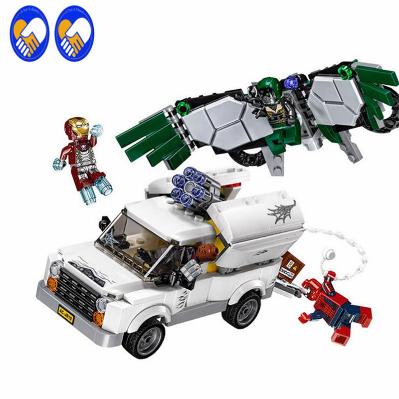 A Toy A Dream Lepin 07076 400pcs Super Heroes Spiderman The Beware of vultures Set Children Educational Building Block Toys gift duncan bruce the dream cafe lessons in the art of radical innovation