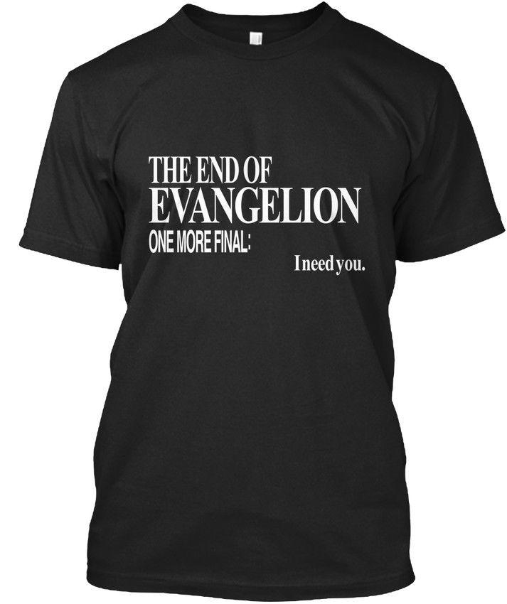 100% baumwolle Druck Herren Sommer Neon Genesis Evangelion Ich Brauche Sie Standard Unisex T-Shirt T-shirt