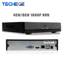 Techege H.264 4CH /8CH Full HD 1080P NVR For IP Camera ONVIF HDMI Network Video Recorder 4 Channel 8 Channel NVR