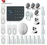 YoBang безопасности WI FI GSM оповещения домой безопасности защиты дома GPRS сигнализация Системы удаленного Управление видео IP Камера Дым пожарны