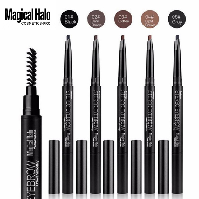 Brand Makeup High Quality 5 Color Automatic Matte Eyebrow Pencil Waterproof With Brush Tool Long-lasting Cosmetics Eye Brow Pen 1