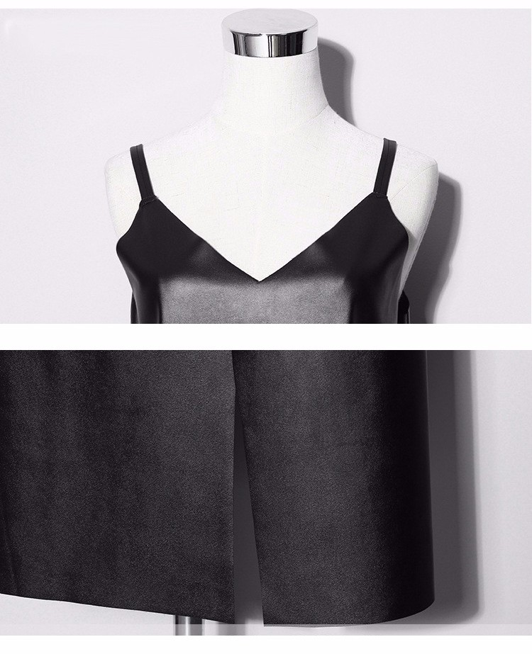 Mustast kunstnahast kleit