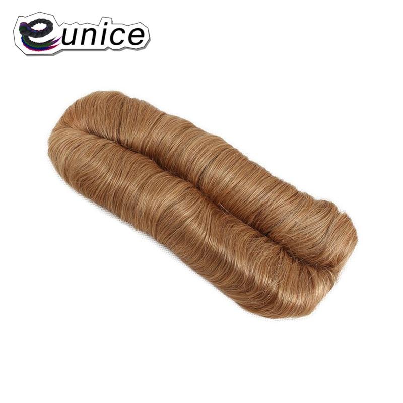Юнис короткие Феми ткань Синтетические пряди для наращивания волос слоистых 28 шт. коричневый #27 волосы прямые высокое Температура волокно ...