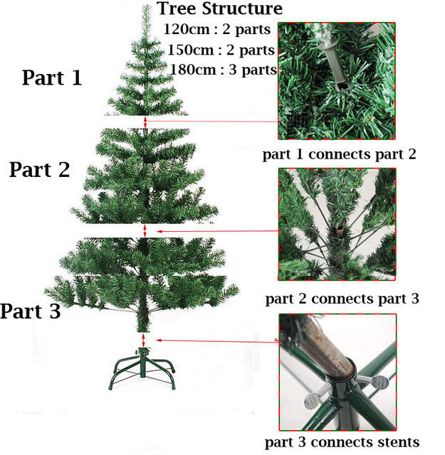 Artificial Christmas Tree Sizes.Green Artificial Christmas Trees Height 60 90 120 150 180 Cm Outdoor Xmas Christmas Decoration Tree For New Year