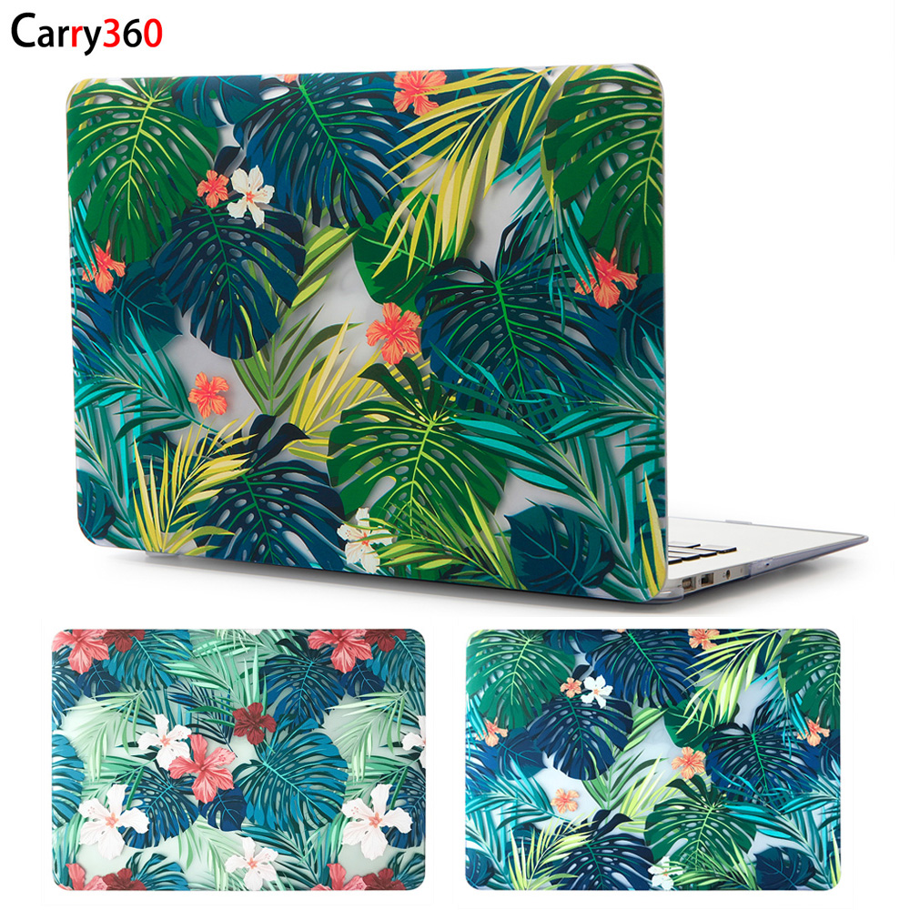 Carry360 Hard Print Flower Laptop Case for Macbook Air 13 Case Pro Retina 12 13.3 15 Touch Bar for Apple Mac book Air 11 inch худи print bar марко поло