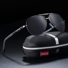 BARCUR Men Sunglasses Brand Original Polarized Driver glasse