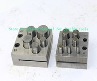 Jewelers Disc Cutter 7 Hole 5 Hole Punch Die Set Metal Circle Cutting Punching Jeweler Tool