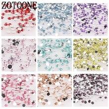 ZOTOONE 1000 шт 3-5 см блестящие стразы кристалл не горячей фиксации FlatBack шитье стразами и ткань одежды Стразы декоративный камень для ногтей D
