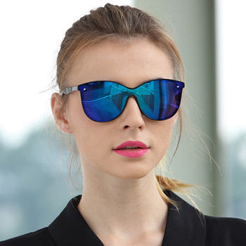 LongKeeper Cat Eye Polarized Sunglasses Men Women Mirror Sun Glasses for Drivng Night Vision Googles UV400 gafas de sol mujer