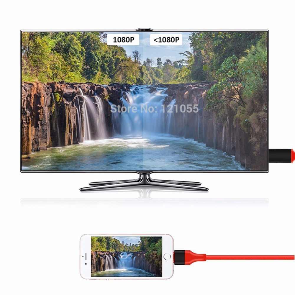 USB HDTV Kotak untuk Petir HDMI Kabel Iphone X/X/8 Plus/7/6 S/ 6/5 S Converter Ipod Ipad untuk TV Proyektor Video AV Digital Adaptor