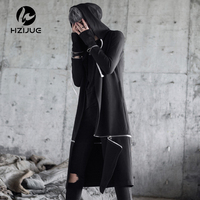 Men Hooded Sweatshirts With Black Gown Best Quality Hip Hop Mantle Hoodies Fashion Jacket Long Sleeves