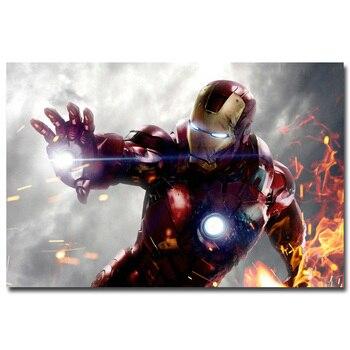 Плакат гобелен шелковый Железный человек Марвел